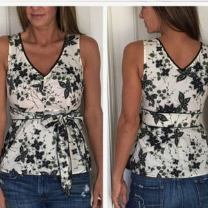 Anthro / ODILLE Afternoon Tea Tie-Back Tank Top!